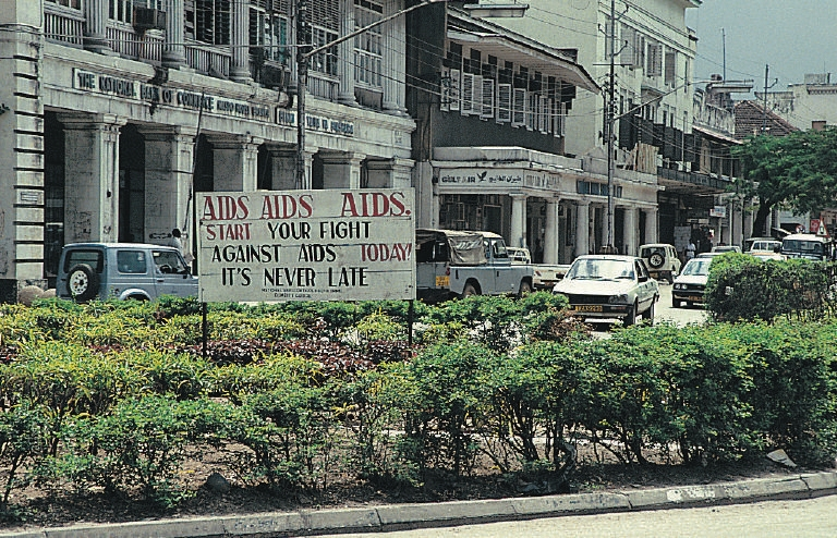 AIDS_sign_in_Tanzania